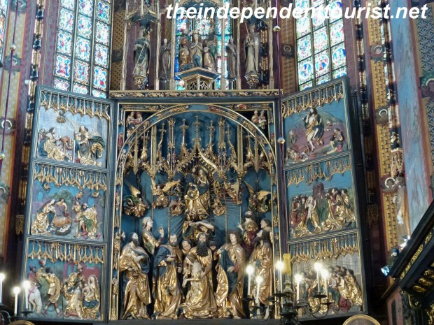 The marvelous Veit Stoss pentaptych in St. Mary's Church, Krakow.