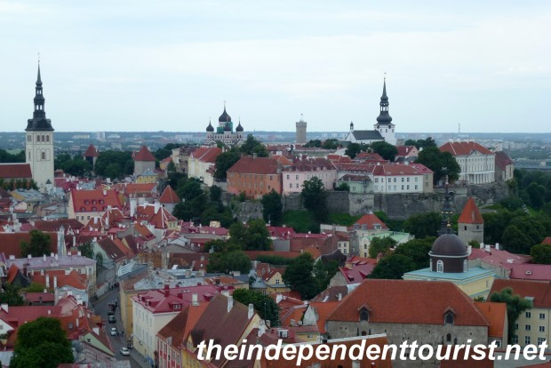 A view of Old Town Tallinn (Toompea Hill) from St. Olav's Church (described below).