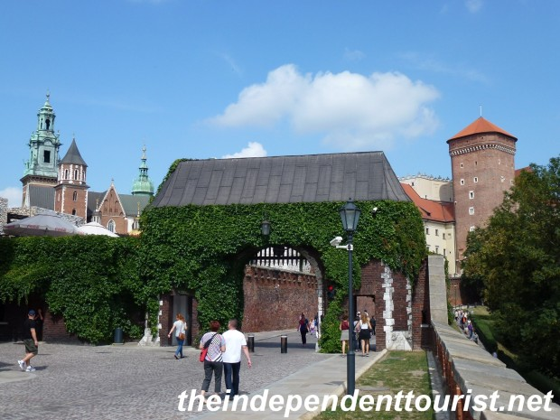 The Bernardyńska Gate to Wawel Castle.