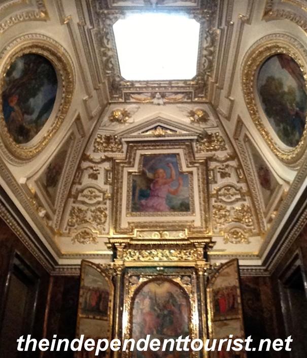 One of the ceilings in Wawel Castle.