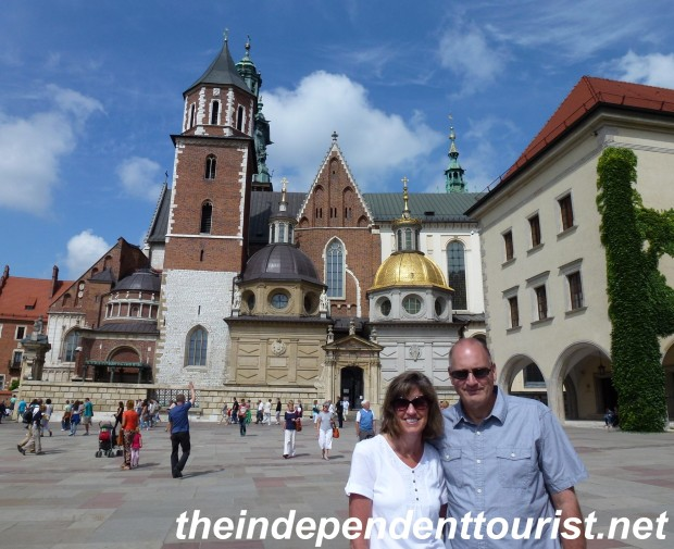 The exterior of Wawel Cathedral has a number of interesting facades.