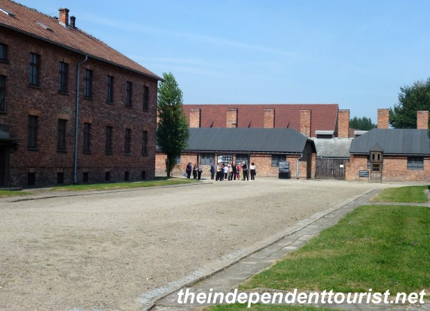 In the center of this area, the SS officer in charge of the roll-call would receive reports of the prisoners present. If anyone was missing, the prisoners would have to stand at attention until the SS were satisfied, regardless of the weather and sometimes for 12 hours or more.
