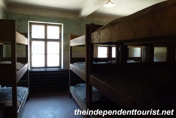 The crammed barracks. Sometimes 200 people were crowded into rooms mean to house 40 or 50 people.