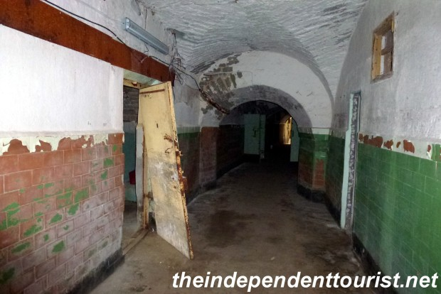 One of the prison's hallways, Notice how it's curved, this was a feature of the original fortress from the 1800's, so a shot could not be fired straight a long distance.