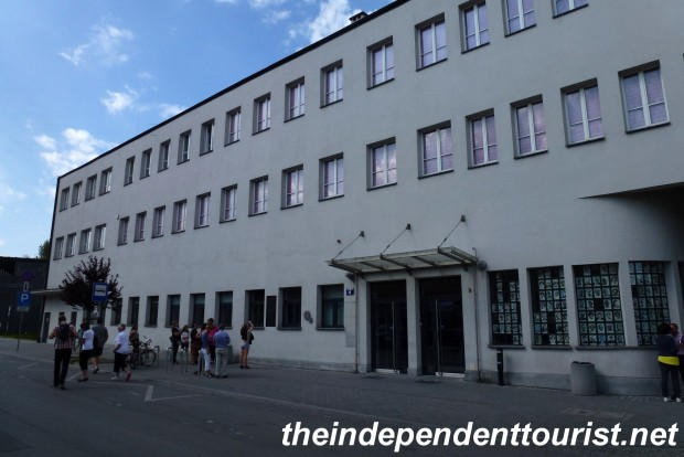The front facade of Schindler's Factory.