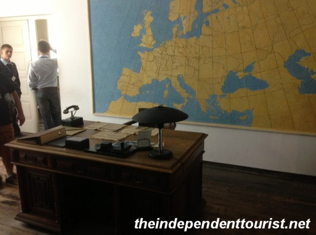 Schindler's office and desk.