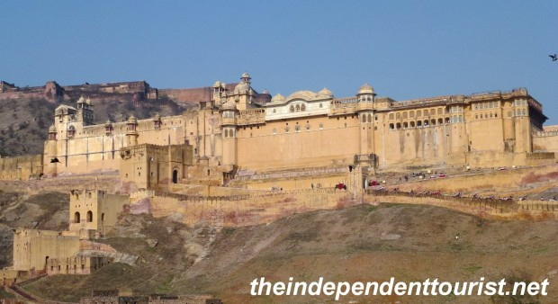 The amazing Amber Fort in Jaipur. It looked so surreal, like a movie set prop rather than a real palace.
