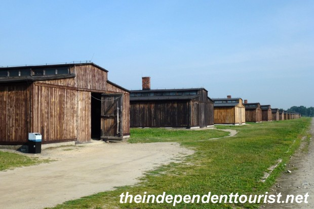Most men where housed in these wooden barracks, some of which were horse stables originally.