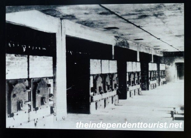 A picture of the crematoria where the bodies would be burned after gassing.