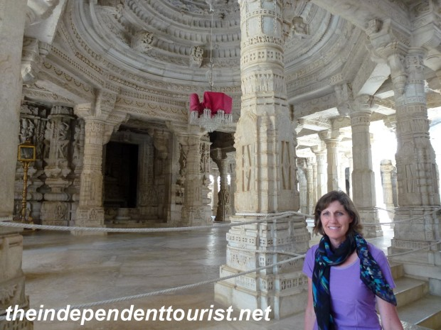 The stunning Jain temple of Ranakpur was one of the sites where very conservative clothing is expected.
