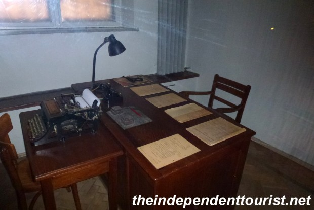 The Gestapo officer's desk.