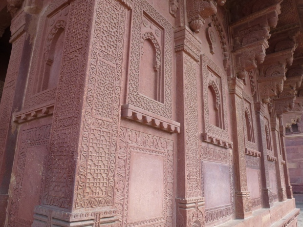 The Birbal Bhavan, an intricately carved building inside and out, believed to be the residence of Akbar's senior queens.