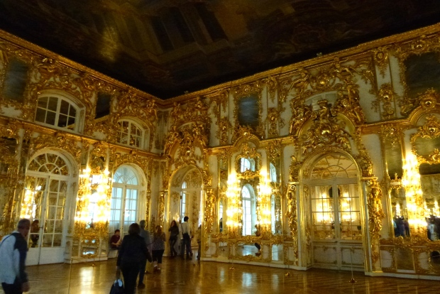 The gilded Ballroom of Catherine Palace.