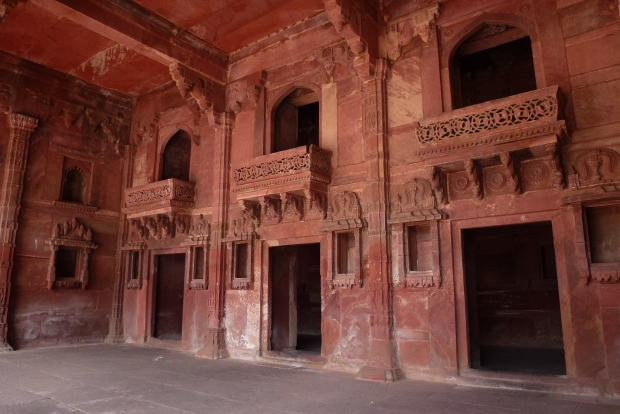 Inside the Palace of Jodh Bai, the home of Akbar's Hindu wife (said to be his favorite).