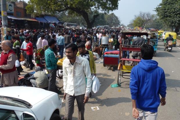 A street scene in Chandni Chowk.