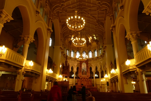 An interior view of Johanneksen Church.