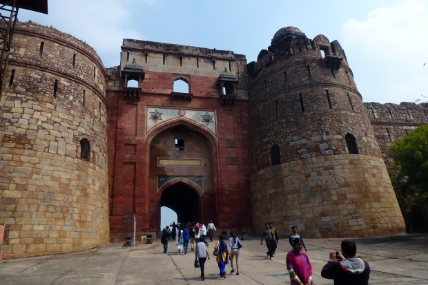 The main gate into Purana Qila.