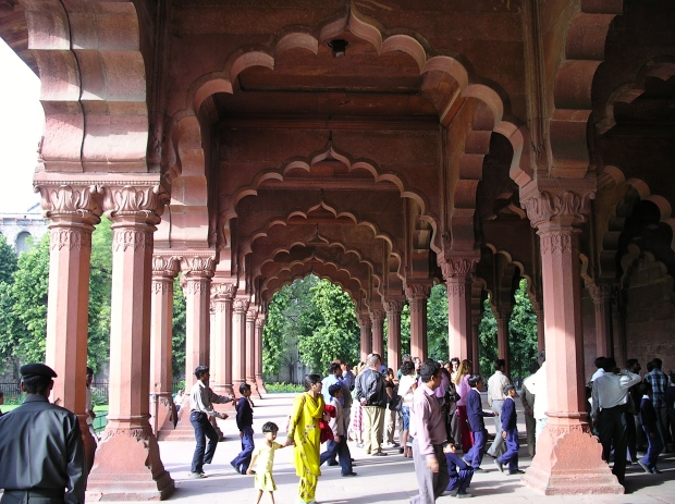 The entrance to the Emperor's reception hall in the Red Fort.