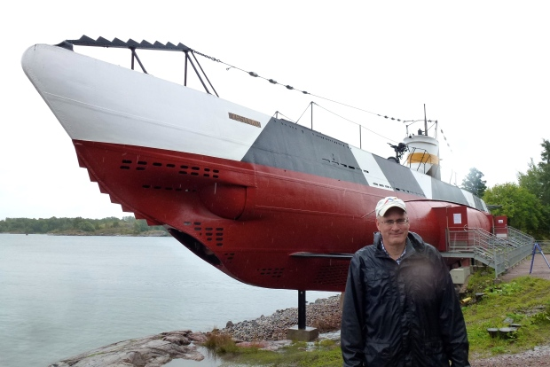The Vesikko submarine, a Finnish sub built in the 1930's that saw action in World War II. The sub is now a museum.