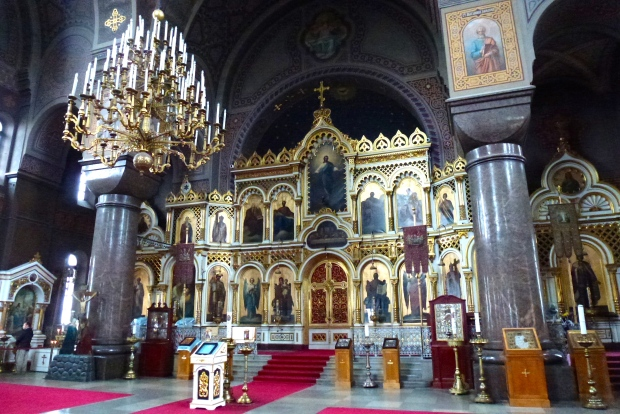 Interior view of Uspenski Cathedral.