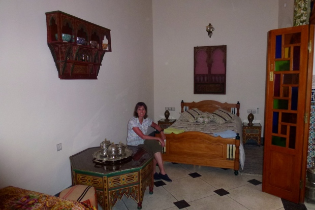 Our room in Fez.