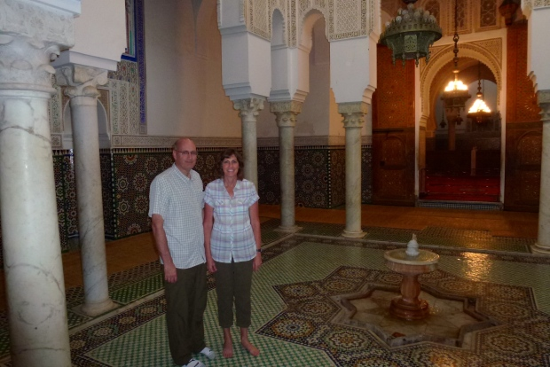 Mausoleum of Moulay Ismail, one of the few active Muslim shrines that non-muslims may visit, in the city of Meknes.