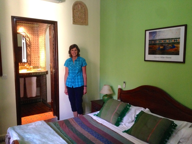 Typical Riad room, this one is in Rabat.