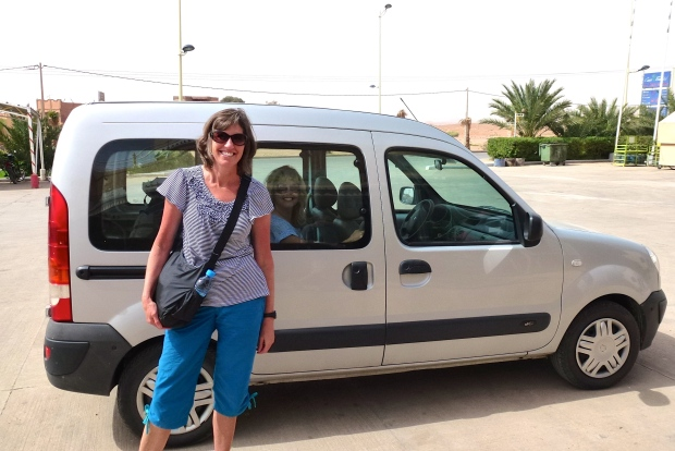Our rental car in Morocco.
