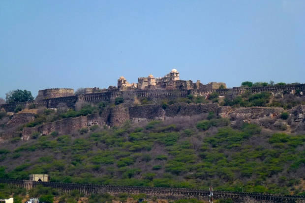 A view of Chittorgarh Fort from the city of Chittor.