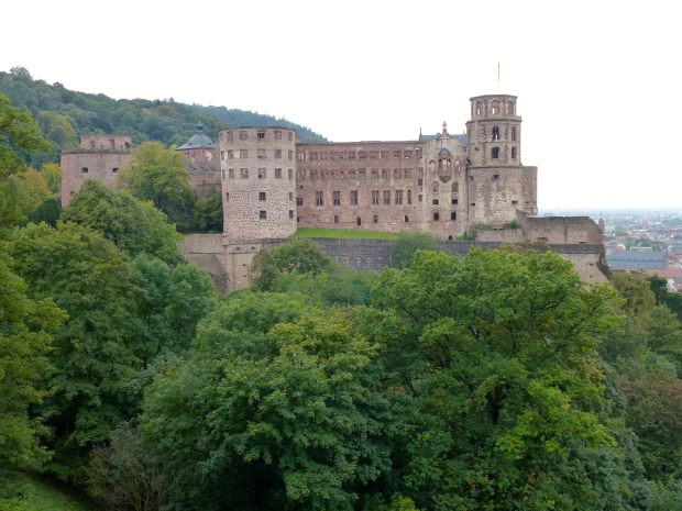 Another view of Heidelberg Castle from the gardens.