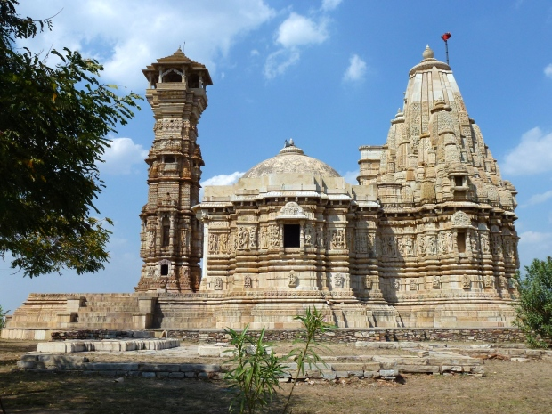 Another Jain Temple at Chittorgarh. The tower (Kirti Stambha) was built in the 12th century.