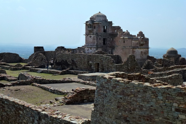 A view of the ruins of 15th century Rana Kumbha Palace.