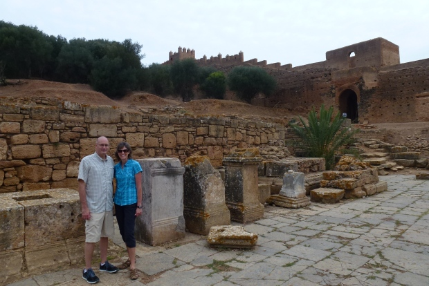 Roman ruins in Chellah.