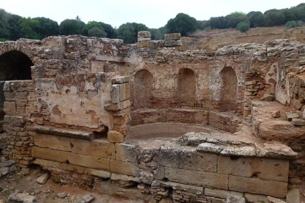 The Roman nymphaeum in Chellah.