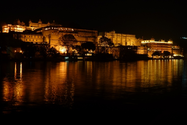 City Palace night view.
