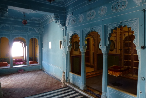 "Another reception area in City Palace - it has an English ""Wedgwood"" look."
