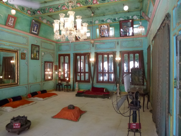 One of the audience rooms at City Palace.