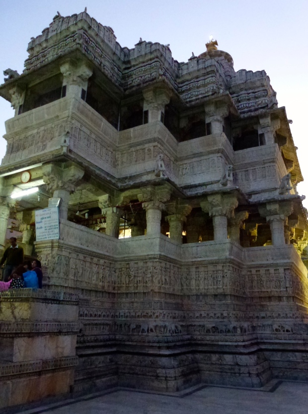 An evening view of Jagdish Temple.