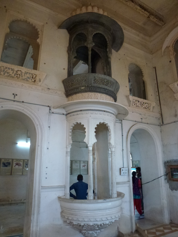 Interior view of the Monsoon Palace.