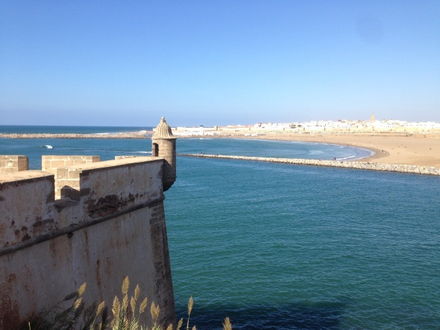 A view of the Bou Regreg River and Atlantic Ocean from the Kasbah.