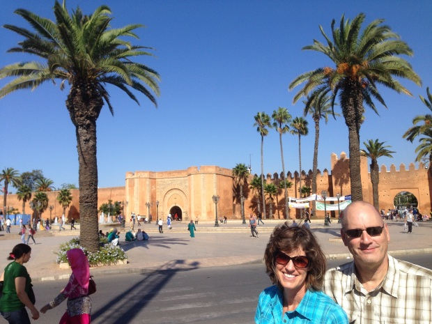 The walls of the Rabat medina.