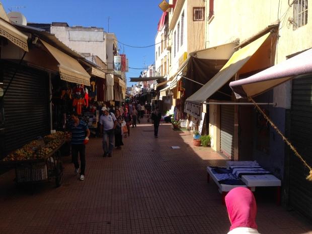 A street scene in the medina.