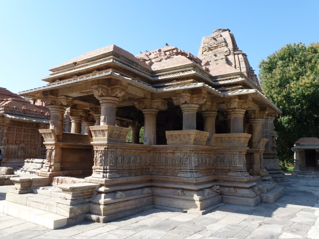 Another view of one of the Saas-Bahu temples.