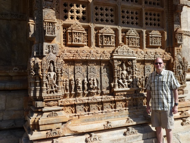 Some of the intricate carving work at the Saas-Bahu temples.