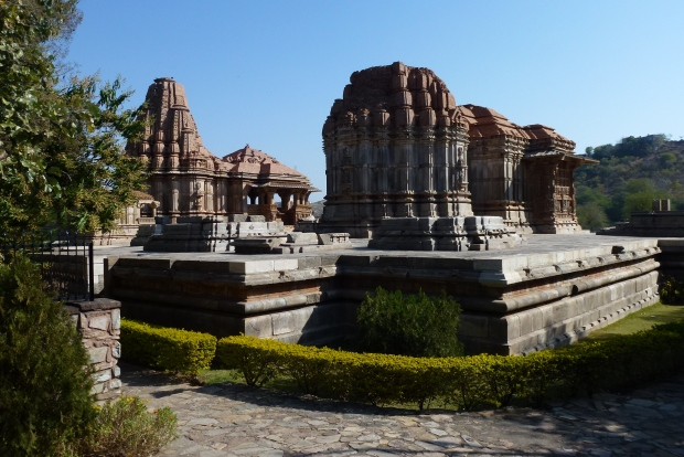 View of the Saas-Bahu temples.