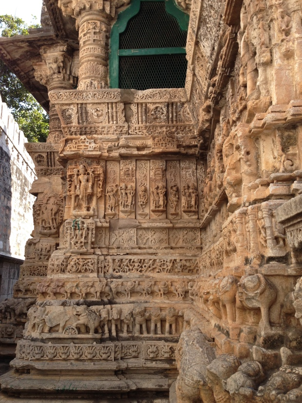 Detail of the carvings on the main temple (16th century).