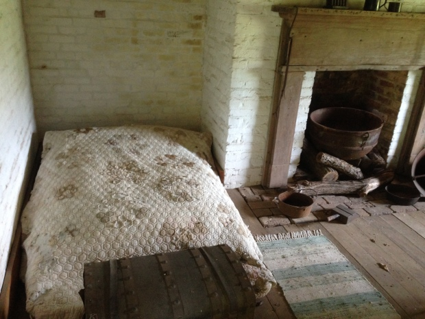 Inside the slave quarters at Carnton Plantation.