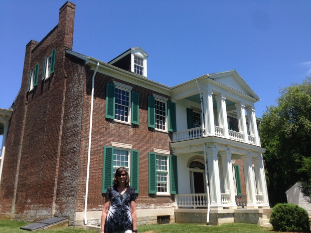 Robyn with a view of the front of the Carnton Plantation home. Wounded and dying soldiers were laid all over the grounds as well as in the house.