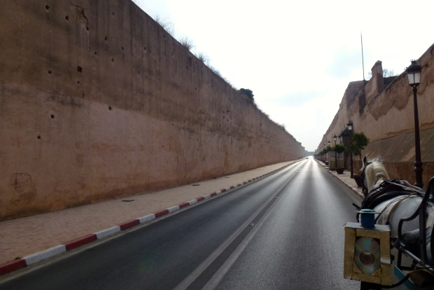 The long passage road (about 1 mile) along walls of the Ville Impériale.
