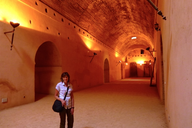 Inside the granaries of the Ville Impériale. There was an underground water supply system here.